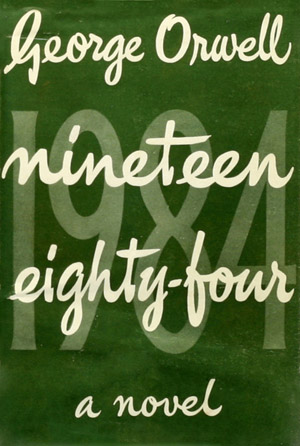 First edition cover of George Orwell's 1984